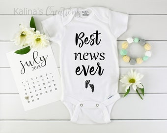 Best News Ever Onesie / Baby Announcement Onesie