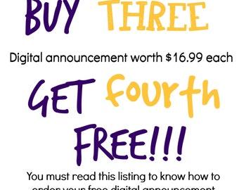 Buy 3 Get Fourth Free - Read Listing