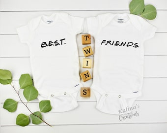 Twin Onesies Pregnancy Reveal for New Grandparents