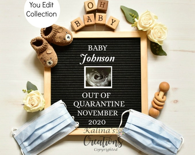 Template Quarantine Pregnancy Announcement  - Social Distancing