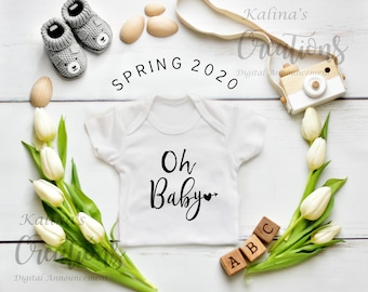 Easter Baby Announcement for Social Media