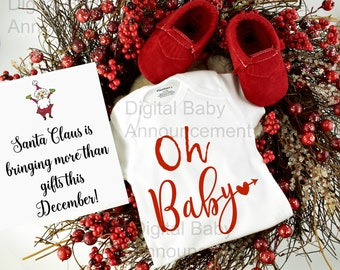 Digital Pregnancy Announcement Christmas