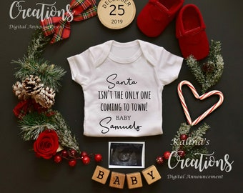 Christmas Pregnancy Announcement for Social Media
