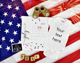 4th of July Baby / Patriotic Announcement for Social Media
