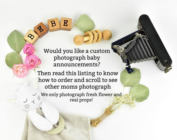 Custom Digital Pregnancy Announcement for Social Media