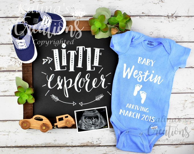 Baby Boy Gender Pregnancy Announcement for Social Media Announce