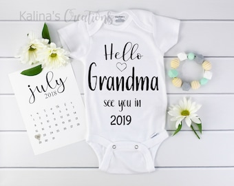 New Grandma Gift / New Grandma Onesie / Baby Announcement / pregnancy announcement / new grandparents / expecting / announce pregnancy