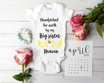 Handpicked from Heaven Onesie / baby reveal / baby announcement onesie
