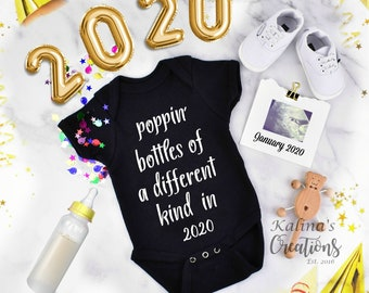 New Year 2020 Pregnancy Announcement Personalized for Social Media Announce