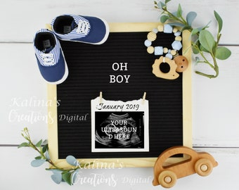 Digital Pregnancy Announcement / Digital Letter Board Announcement / Digital Letterboards