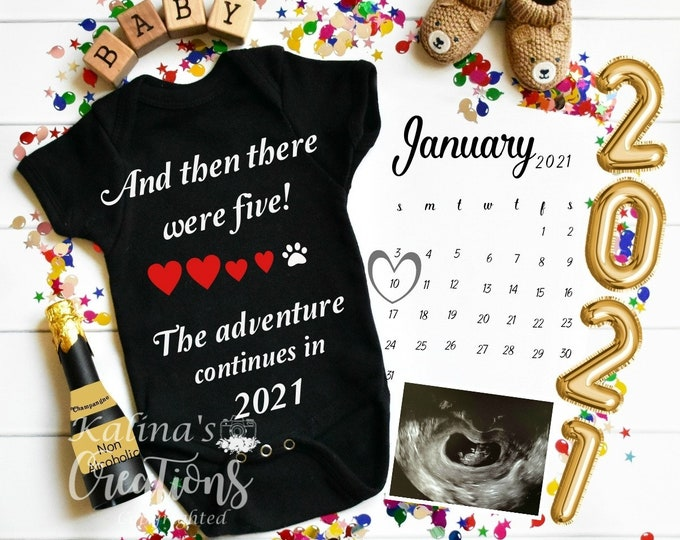 3rd Baby Announcement -New Year 2021 Baby Announcement Template for Social Media Announce