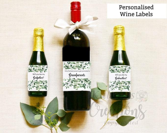 Godmother Wine Label - Grandparents Wine Label Pregnancy Announcement