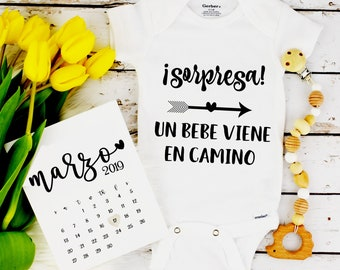 Baby Announcement Spanish / Pregnancy Reveal / grandparent announcement / bodysuit Spanish / pregnancy reveal / announcement / organic onesi