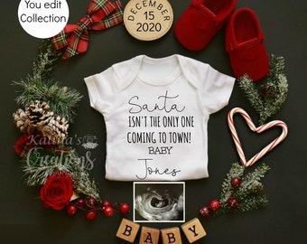 Template Christmas Pregnancy Announcement for Social Media Announce