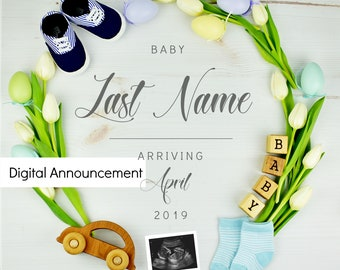 Easter Baby Announcement - Grandparents for Social Media