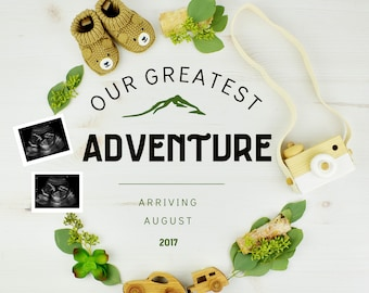 Adventure Digital Pregnancy Reveal for Social Media
