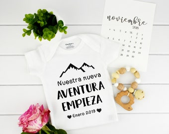 Baby Announcement Spanish / Pregnancy Reveal / grandparent announcement / bodysuit Spanish