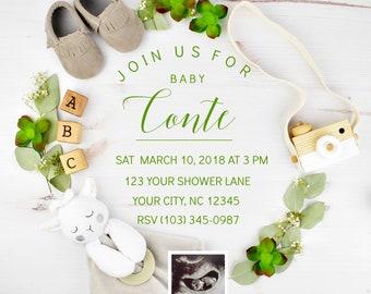 Digital Baby Shower Invite - Lamb shower invite
