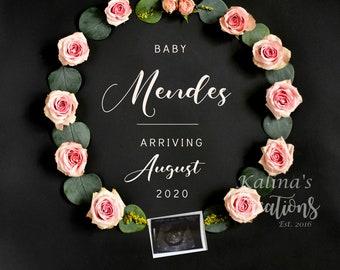 Baby Girl Gender Reveal - Pregnancy announcement for Social Media