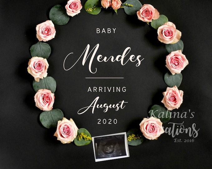Featured listing image: Girl Gender Reveal - Pregnancy announcement for Social Media