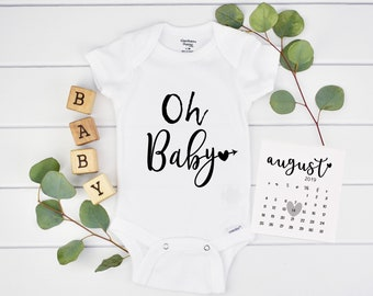 Oh Baby Onesie Pregnancy Announcement for New Grandparents