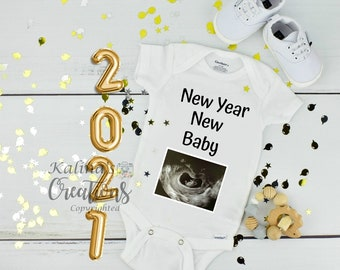 New Year 2021 Pregnancy Announcement Template for Social Media Announce