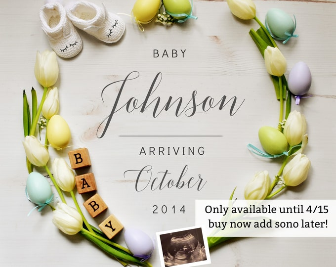 Featured listing image: Easter Baby Announcement - Grandparents for Social Media