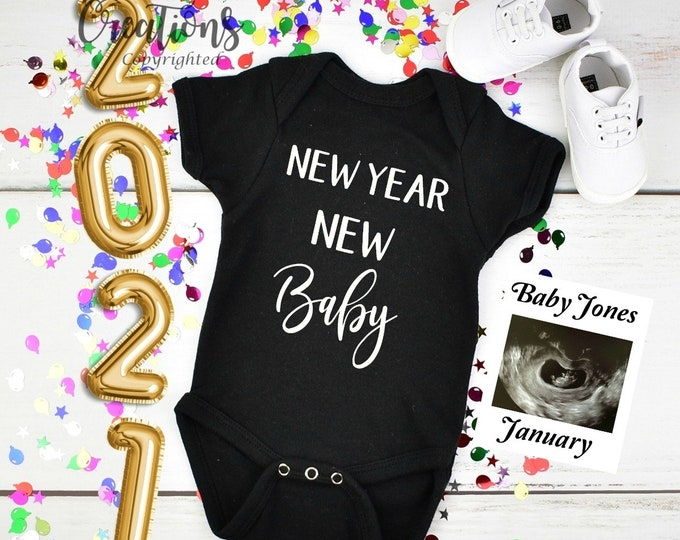 New year 2021 Baby Announcement for Social Media Announce