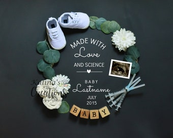 IVF Baby Pregnancy Announcement For Social Media Announce