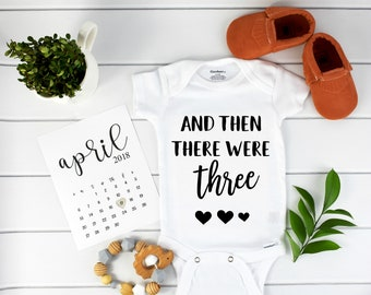 Then there were three / four / Baby Announcement Onesie /