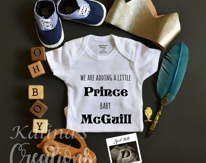 Custom reserved - Personalized Baby Boy Gender Reveal - Social Media Announce