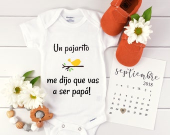 Baby Announcement Spanish / Pregnancy Reveal to dad / baby reveal to dad / birth announcement / baby announcment ideas / new dad reveal