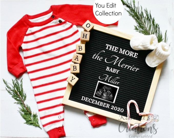 Christmas Pregnancy Announcement for Social Media Announce