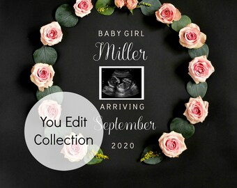 Social Media Announce - Pregnancy announcement Template