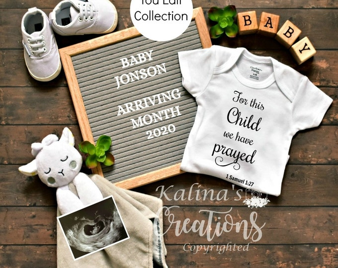 You Edit Gender Neutral Pregnancy Announcement - for Social Media Announce