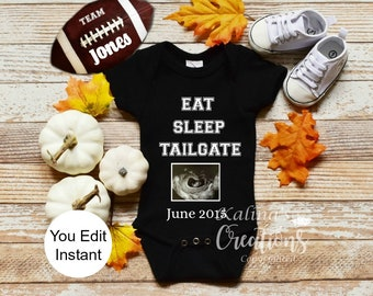 Football Baby Announcement Template - Fall Baby Announcement