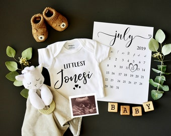 Custom digital pregnancy reveal for social media - gender neutral