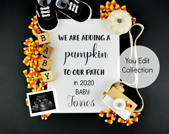 Halloween Pregnancy Announcement Social Media Announce