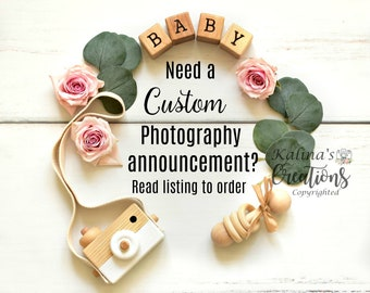Custom Pregnancy Announcement for Social Media Announce