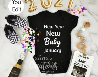 New Year 2021 Pregnancy Announcement Template