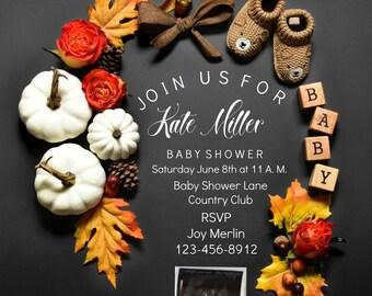 Thanksgiving Baby Shower Invitation for social media or Printable