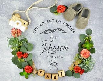 Digital Pregnancy Reveal for Social Media