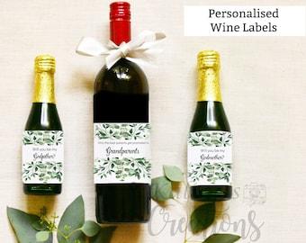 Godmother Wine Label - Grandparents Wine Label Pregnancy Announcement, KC14