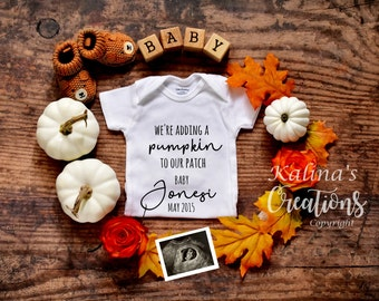 Autumn Fall Baby Announcement Reveal for Social Media