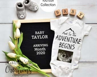 Gender Neutral Pregnancy Announcement Template for Social Media Announce