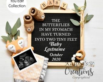 Fox Woodland Pregnancy Announcement -Social Media Announce