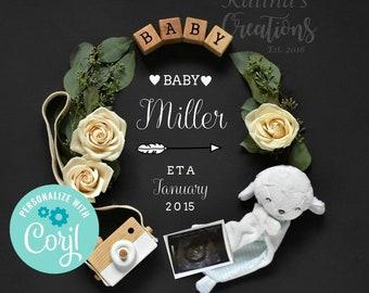 Pregnancy Announcement Template - Social Media Announce