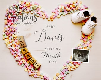 Valentines Pregnancy Announcement for Social Media Announce