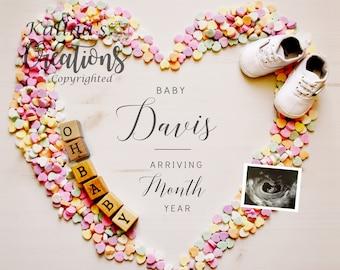 Valentines Pregnancy Announcement for Social Media Announcement