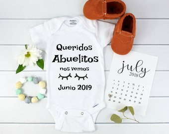 Baby Announcement Spanish / Pregnancy calendar /